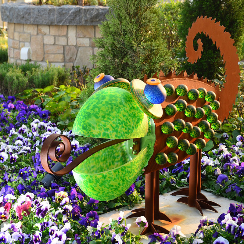 CHAMELEON - Outdoor object, Outdoor sculpture, [Borowski Art Glass in Asia]