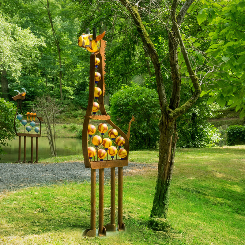 GIRAFFE - Outdoor object, Outdoor sculpture, [Borowski Art Glass in Asia]
