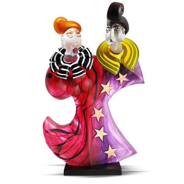 DANCERS - Object by SJB, Art sculpture, [Borowski Art Glass in Asia]