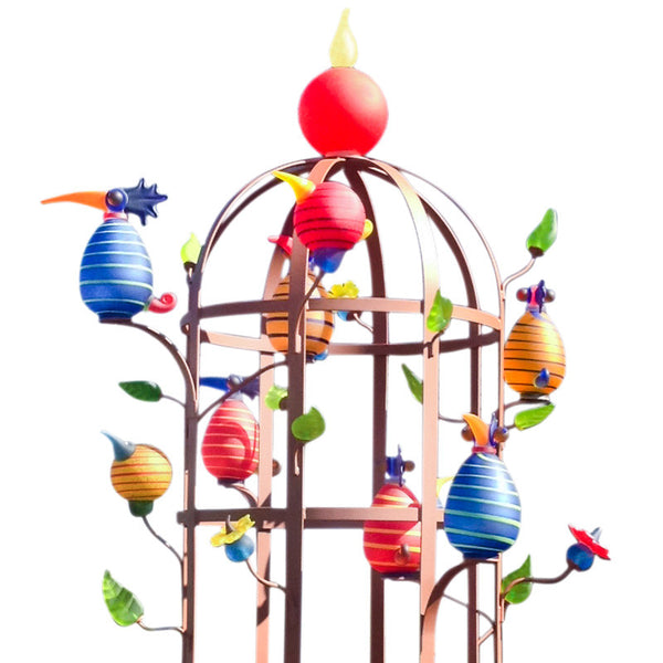 PARADISE CAGE - sculpture, Art sculpture, [Borowski Art Glass in Asia]