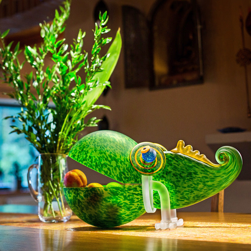 CHAMELEON BIG - Bowl, Bowl, [Borowski Art Glass in Asia]
