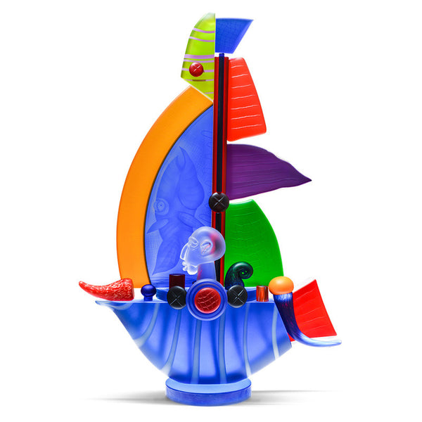 SAILBOAT SMALL - Object by PB, Art sculpture, [Borowski Art Glass in Asia]