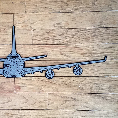 747 Airliner Premium Aircraft Silhouette Wall Art