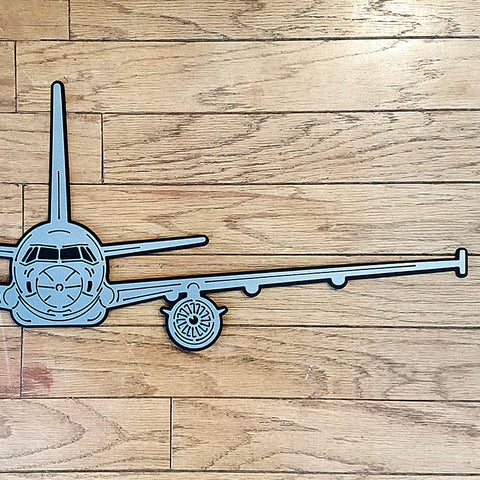 A320 Airliner Premium Aircraft Silhouette Wall Art