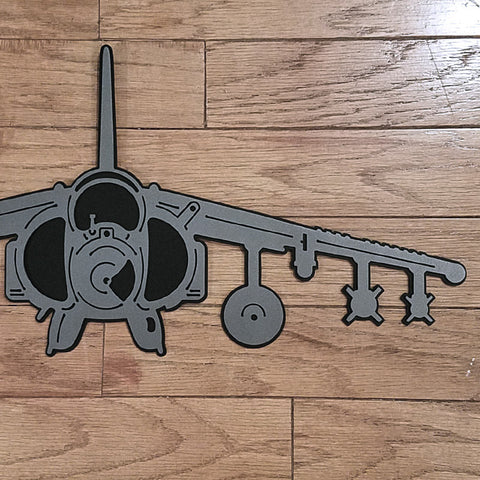 AV-8B Harrier Premium Aircraft Silhouette Wall Art