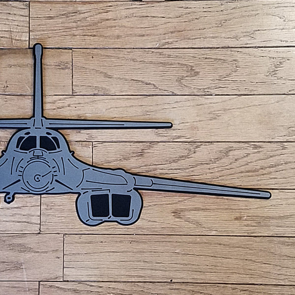 B-1 Lancer 'BONE' Premium Aircraft Silhouette Wall Art - PLANEFORM
