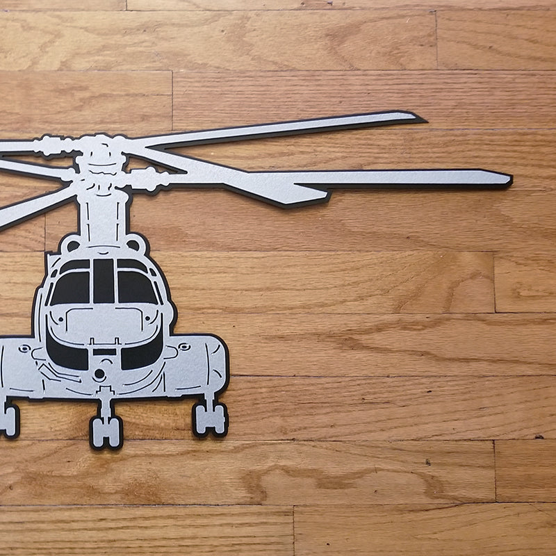 CH-46 Sea Knight 'PHROG' Premium Helicopter Silhouette Wall Art - PLANEFORM