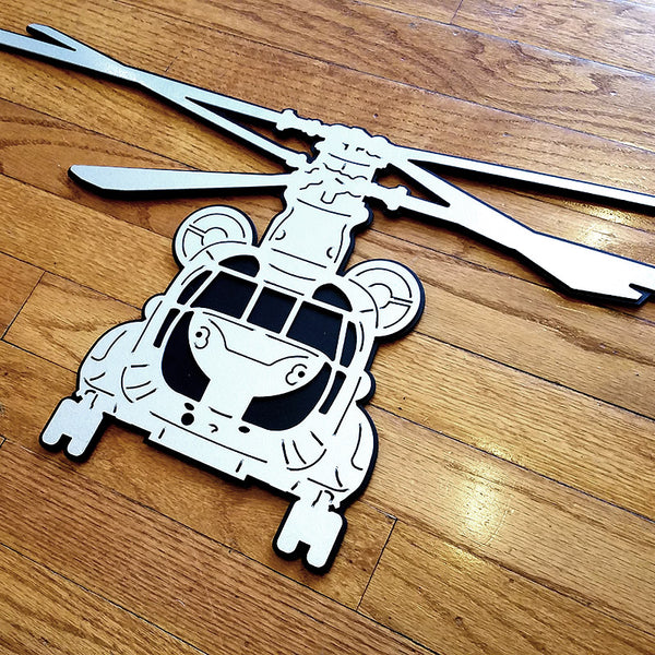 CH-47 Chinook Premium Helicopter Silhouette Wall Art - PLANEFORM