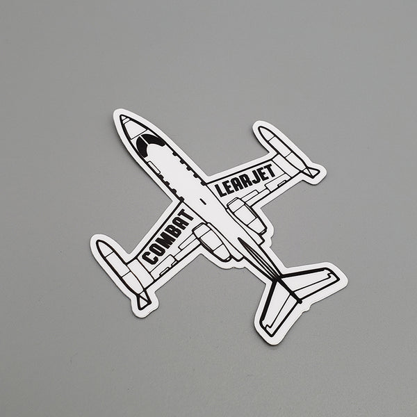 Combat Learjet Stickers and Magnets - PLANEFORM