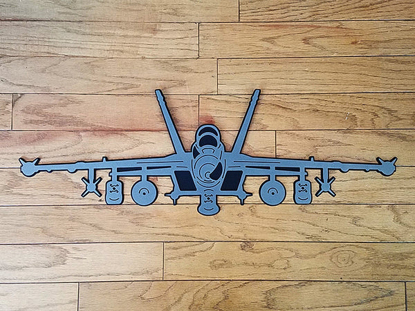 EA-18G Growler Premium Aircraft Silhouette Wall Art - PLANEFORM