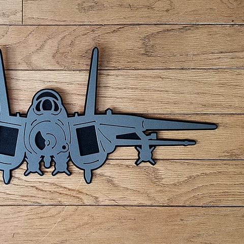 F-14 Tomcat Premium Aircraft Silhouette Wall Art - PLANEFORM