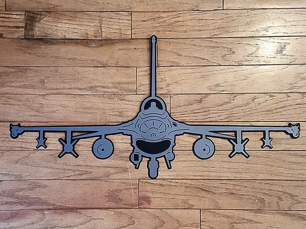 F-16 Fighting Falcon 'Viper' Premium Aircraft Silhouette Wall Art - PLANEFORM