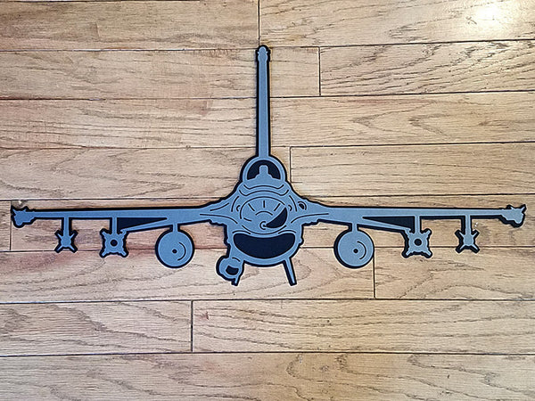 F-16 Fighting Falcon 'Viper' Premium Aircraft Silhouette Wall Art