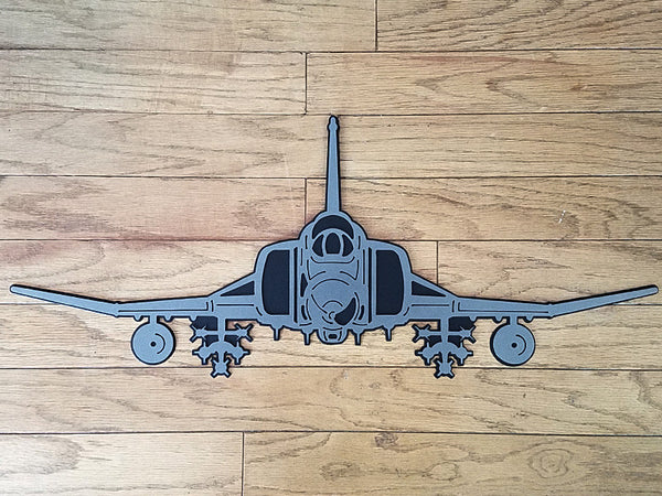 F-4 Phantom II Premium Aircraft Silhouette Wall Art - PLANEFORM