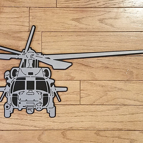 HH-60G Pave Hawk Premium Helicopter Silhouette Wall Art - PLANEFORM