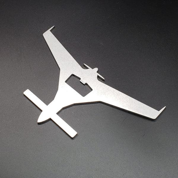 Rutan Long-EZ Kit Plane Bottle Opener - PLANEFORM