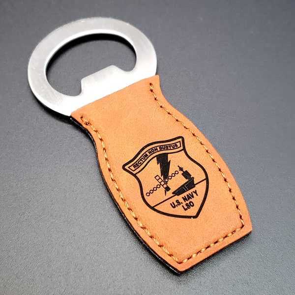 LSO Engraved Leatherette Bottle Opener - PLANEFORM