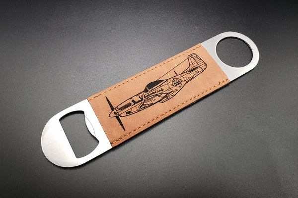 Leather laser engraved bottle opener - PLANEFORM