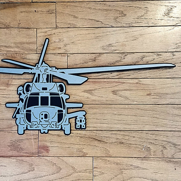 MH-60R Seahawk Premium Helicopter Silhouette Wall Art - PLANEFORM