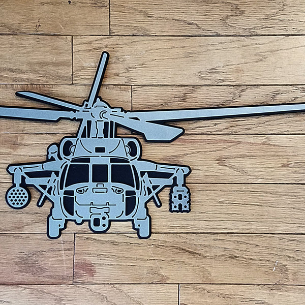 MH-60S Knighthawk Premium Helicopter Silhouette Wall Art - PLANEFORM