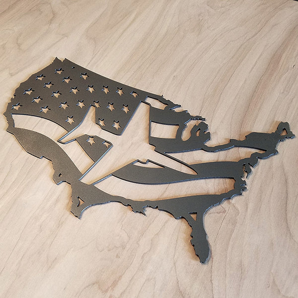 American Flag / Aircraft Steel Map - PLANEFORM