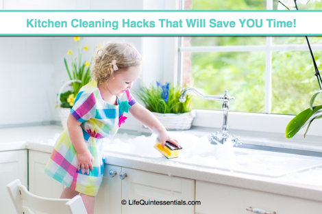 kitchen cleaning hacks and tips