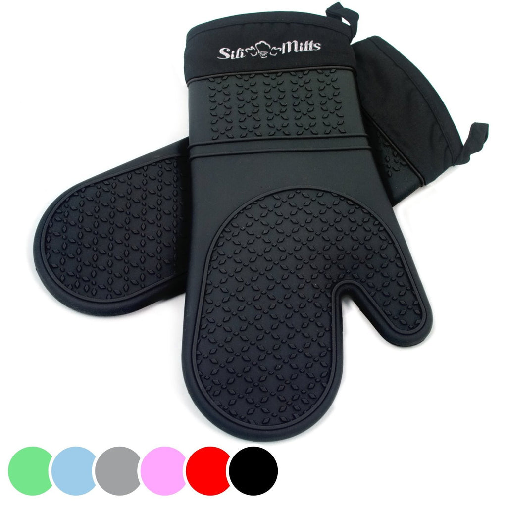 Silicone Oven Mitts - Pair of 2
