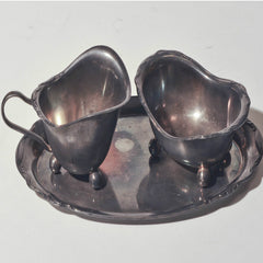 Ancient silver milk and sugar set