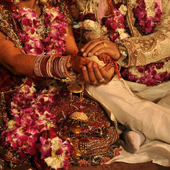 Indian wedding with flower