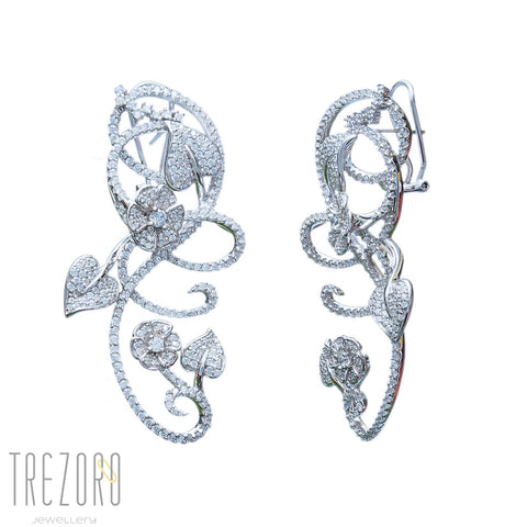 Love is in the air sterling silver rhodium plated earring