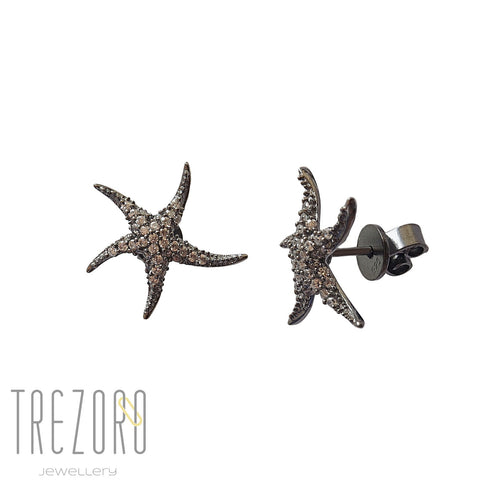 Sparkles Stud Earrings - Sterling Silver, CZ - Office Dress Code
