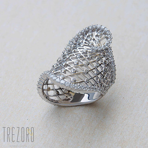Sterling Silver Ring With Cubic Zirconia Buy Online