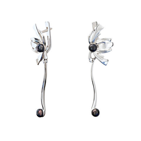 Passion for tango sterling silver drop earrings