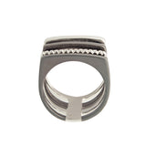4Ever Statement Modern Unusual Sterling Silver Ring