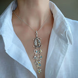 Long Large Pendant Necklace Arabian Night Topaz Citrine