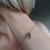 Bracelet Sterling Silver Contemporary Cube