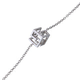 Bracelet Sterling Silver Geometric Cube Contemporary