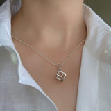 Pendant Necklace Cube Contemporary Jewellery Online