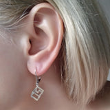 Earrings Geometric Cube Sterling Silver Modern Jewellery