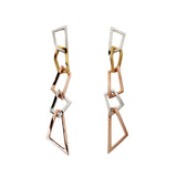 Earrings Sterling Silver Gold Long Statement Jewelry