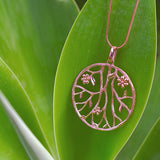 Large Rose Gold Sterling Silver Pendant Necklace Floral Romantic Designer Jewellery Online
