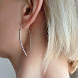 Contemporary Geometric Hoop Earrings Large Ling Big