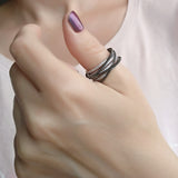 Only You Thumb Ring Sterling Silver Whide Band