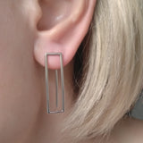 Sterling Silver Geometric Rectangle Earrings Jewelry Online