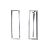 Geometric Earrings Rectangle Contemporary Style