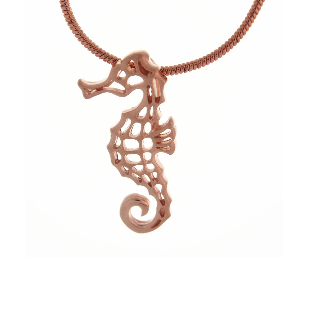 Seahorse Pendant Necklace Sterling Silver Rose Gold Plated Handmade Animal Jewellery Online Store