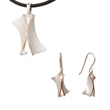 Earrings Pendant Sterling Silver Geometric Jewelry Set