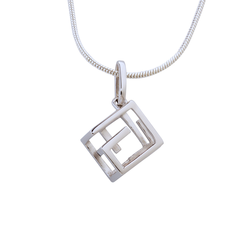 Cube Pendant Necklace Sterling Silver