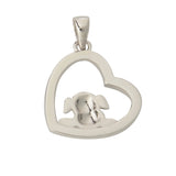 Dog And Heart Pendant Necklace Back Side