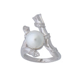 Obsession Ring Sterling silver Large Pearl CZ Wedding Prom Formal